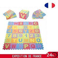 36pcs Tapis puzzle en mousse EVA 16*16cm pour Bébé/Enfants 26 lettres*10 nombres