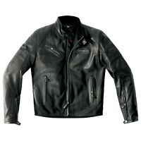 Spidi Ace Leather Jacket Size 56 Euro Black - **SUPER SALE**