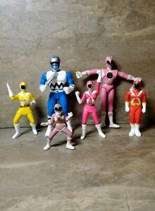 Vintage POWER RANGERS Saban Toys 1994 - 2000 Action Figure Lot of 6 Figures L@@K