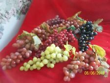 Large Lot of ~ Vntg. Soft Rubber Clusters of Faux Grapes ~ Nos ~ See Photos ~