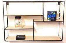 Retro Wall Unit Wood Industrial Style Metal Shelf Rack Storage Display 5 Section