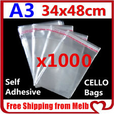 1000 C6 Cello Bag 120x170mm Cellophane Clear Resealable Plastic Self Adhesive