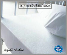 New Waterproof Terry Towel Mattress Protector, Fitted Sheet Cot Bed (60 x 120)