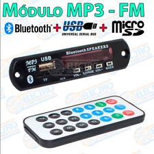 Modulo reproductor MP3 Bluetooth USB + Tarjeta Micro SD Radio FM Mando distancia