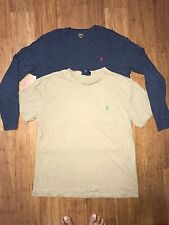 LOT OF 2 Polo Ralph Lauren T Shirt Long Sleeve Mens Size Small