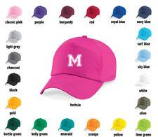 Personalised Varsity letter Baseball Cap Hat - Girls, Boys, Kids, Childrens, sun