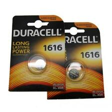 2x Duracell CR1616 3V Lithium Button Battery Coin Cell DL/CR/BR 1616 Expiry 2026