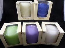"Molca Designs Pillar Candle 4"" X 4"" % Colors to Choose Unscented New in Box"