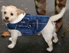 Denim jacket Dog coat fleece lining - x small - xx large dogs NEW