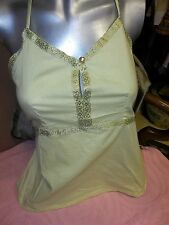 LIME GREEN GOLD BRAID HALTER HALTER FESTIVAL TOP TOPS FUNKY PEOPLE S