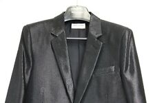 RARE Black Shiny Saint Laurent Paris Jacket Blazer Hedi Slimane 48 46 Daft Punk