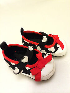 Adorababy Black & White Shoes with Red Bow - Size 2 - NEW!