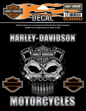 HARLEY DAVIDSON Cognition SKULL DECAL  5.0  INCH  DECAL