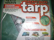 Green TARP 15 x 30 BOAT COVER CANOPY HEAVY DUTY TARPS