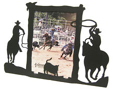 "Team Roping Calf #2 Horse Picture Frame 5""x7"" V"