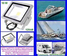 FEUX PROJECTEUR MARIN IMPERMÉABLE IP67 LED HCC BLANC 12V 10W=90W bateau et