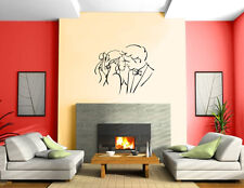 Happy Couple in Love Kisses Romance Wedding Decor Wall Mural Vinyl Sticker M563