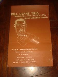 Ultra Rare BILL EVANS TRIO at NTSU Denton,TEXAS November 1979 CONCERT POSTER