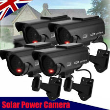 More details for 4x solar power dummy fake security red led cctv ccd camera surveillance varities