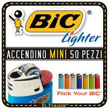 50 Accendini Bic Mini J25 Colorati Pietrina Piccoli Box intero