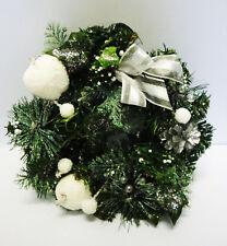 Adventskranz weiß verschneit künstlich Weihnachten Deko Türkranz Glitzer Xmas