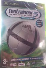 """JEU XBOX """"L'Entraîneur 5 : Saison 04/05"""" (Gestion Footballistique) NEUF BLISTER"""