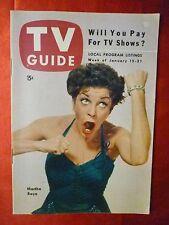 MARTHA RAYE Hopalong Cassidy Bill Boyd TV GUIDE January 15-21 1954 Chicago