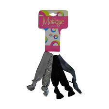 Hair Ties Black, Gray, Silver Ponytail Bracleets Girls No Crease Hair Ties