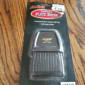 ALL-STAR Umpire Plate Brush with Handle, Black, 100% Nylon, New