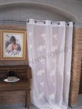 Tenda arredamento SHANA, 1 telo ricamato con anelli 140x h.280cm casa classica