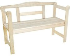 Gartenbank Friesenbank Holz 2-Sitzer natur