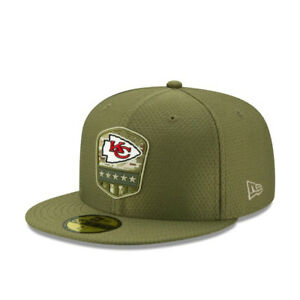 Kansas City Chiefs New Era 59Fifty NFL Salute to Service Fitted Hat Size 7