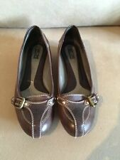 Etro Milano Loafers Shoes Brown Leather Ballet Flat RRP £295 Size 40 UK 7
