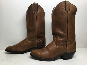 VTG WOMENS UNBRANDED COWBOY BROWN BOOTS SIZE 9?