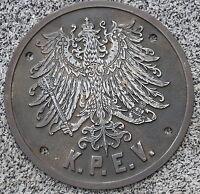 K.P.E.V. Emblem Crest Eigentumsschild cabside Eisen sehr gut erhalten