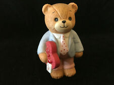 Lucy & Me For My Love Valentine Bear W/ Heart Shape Candy Lucy Rigg Enesco 1983