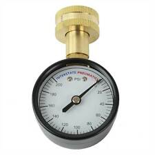 "Interstate Pneumatics G2012-200w 2"" 200 PSI 3/4"" GHT Water Pressure Gauge"