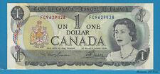 1973 Bank Of Canada $1 Dollar  2 Letters Prefix # FC9629428 (Lawson / Bouey) UNC