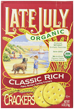 Late July Organic Classic Rich Crackers, 6 Ounce Boxes Pack of 12