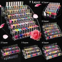 2-7 Tiers Acrylic Nail Polish Display Stand Rack Lipstick Cosmetic
