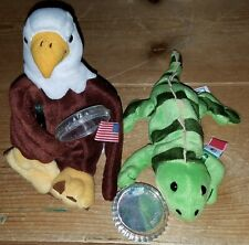 Coca Cola International Collection Animals Sam the Eagle & Paco the Iguana