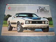 """1973 Mustang Mach 1 RestoMod Article """"Part of the Family"""""""
