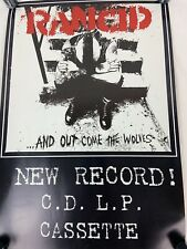 Rancid Poster And out come the wolves Promo 19x13 Print Epitaph Records 1995
