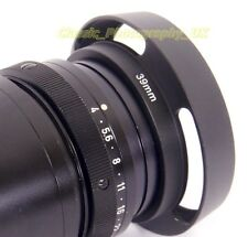 LEICA Summicron-M 2/50mm ELMAR-M 1:2.8 f=5cm fit 39mm Metal Vented Lens Hood E39
