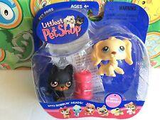 Littlest Pet Shop Set Pack #92 Doberman Cocker Spaniel puppy dogs accessories
