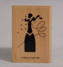 Rubber Stamp Graphistamp Michael Schwab Champagne Mounted Vintage 1983