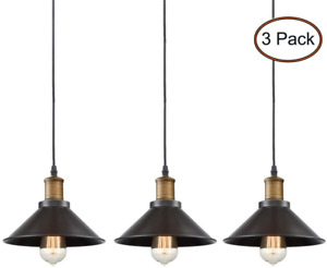 Lamparas Techo Modernas Bronze Colgantes 3 Pack Sala Cocina Comedor Dromitorio