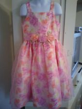 CHILDREN'S PLACE 6X 7 DRESS Fancy Party Pink Rosette Layers Floral Flower