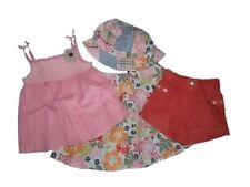 NWT Girl's Gymboree Hula Baby flower shirt shorts skirt hat outfit 12-18 months