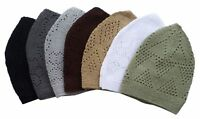 New Islamic Kufi Prayer Cap Men-Muslims Hat Available in SEVEN Colors
